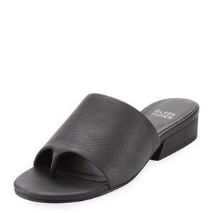 Eileen Fisher black leather Beal slide